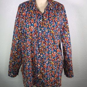 Old Navy Vivid Floral Classic Shirt